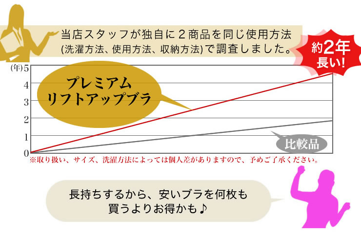 プレミアムリフトアップ ブラジャーの説明